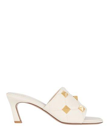 Valentino Garavani Roman Stud Quilted Slide Sandals | INTERMIX®
