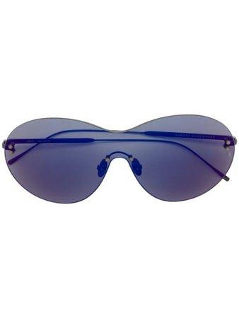 Sunday Somewhere Purple Iris Shield Sunglasses IRISSUN161PURSUN Black | Farfetch