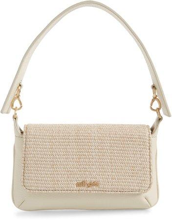 Damara Leather Shoulder Bag