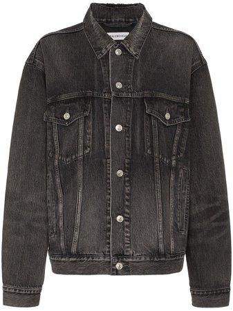 Balenciaga, Logo Print Denim Jacket