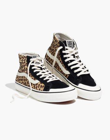 Vans Unisex SK8-Hi 138 Decon SF High-Top Sneakers in Leopard Colorblock Suede
