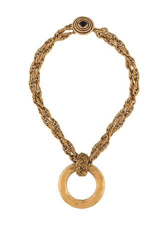 Chanel Pre-Owned 1980s Art Circular Pendant Necklace - Farfetch
