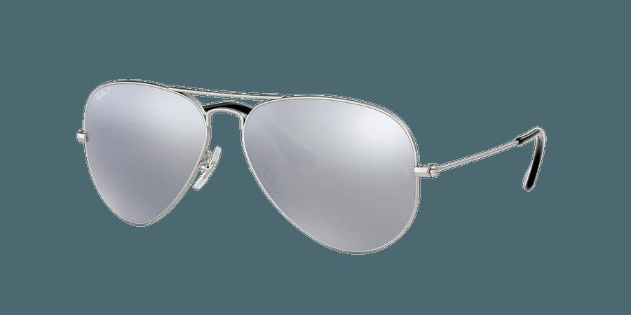 Ray-Ban RB3025 AVIATOR MIRROR 58 Polarized Silver Flash & Silver Polarised Sunglasses | Sunglass Hut United Kingdom