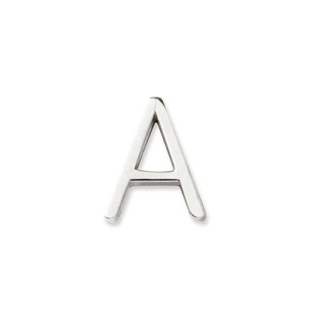 14K Silver Letter A Stud