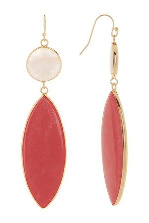 Panacea | Coral Marquis Howlite Drop Earrings | Nordstrom Rack