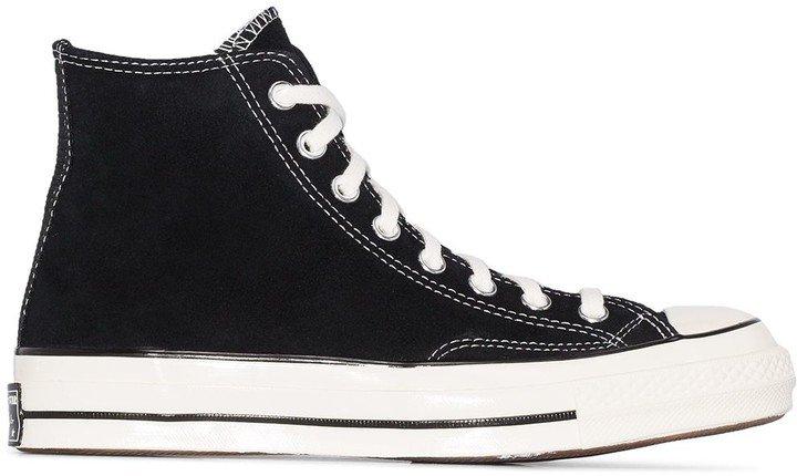 Black Chuck 70 suede high top sneakers