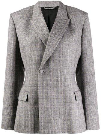 Balenciaga Double-Breasted Fitted Waist Blazer | Farfetch.com