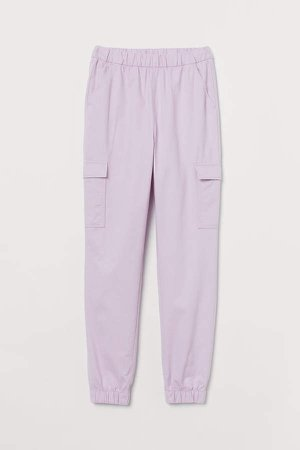 Twill Cargo Pants - Purple