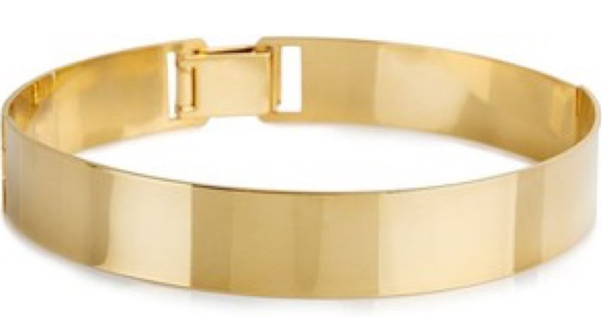 gold metallic choker