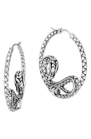 John Hardy Naga Hoop Earrings   Nordstrom