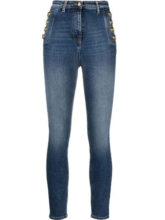 Elisabetta Franchi hight-rise slim-cut jeans blue PJ02I11E2 - Farfetch