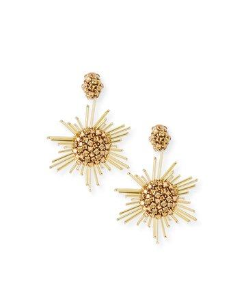 Oscar de la Renta Fireball Drop Clip-On Earrings | Neiman Marcus