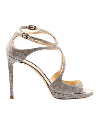 Jimmy Choo Dusty Glitter Sandal