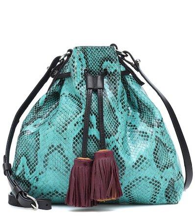 Beeka embossed leather shoulder bag