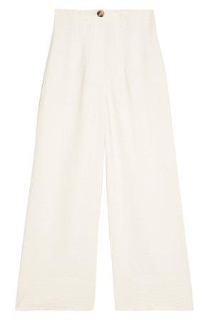 Topshop Aida Stitch Detail Wide Leg Trousers | Nordstrom