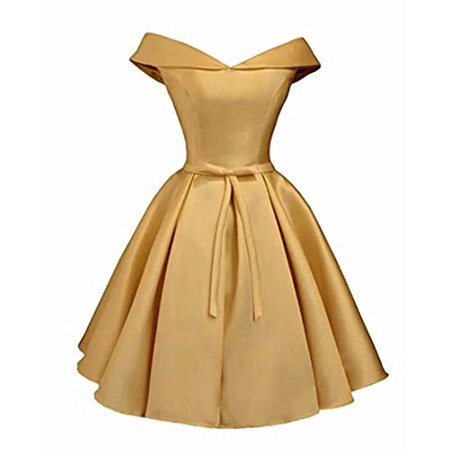 gold cocktail dress Fit and Flair