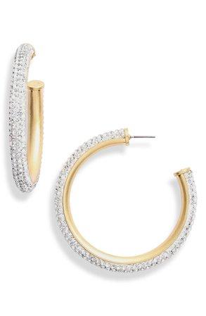 kate spade new york razzle dazzle hoop earrings | Nordstrom