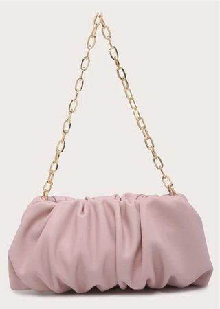 shein ruched chain shoulder bag