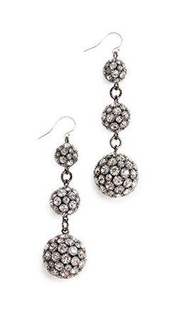 Royale Triple Drop Earrings, Crystal