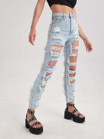 Women's Jeans | Jean Shorts & Ripped Jeans | Best Selling Jeans | ROMWE