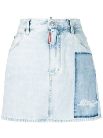 Shop blue Dsquared2 Dalma patch denim skirt with Express Delivery - Farfetch