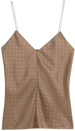 Polka Dot Silk Camisole