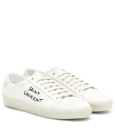 Court Classic embroidered sneakers