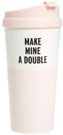 Kate spade thermal pink travel mug