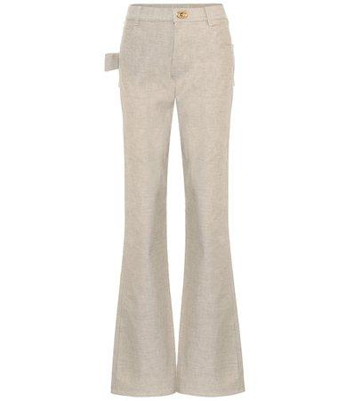 Bottega Veneta - Jeans bootcut de tiro alto | Mytheresa