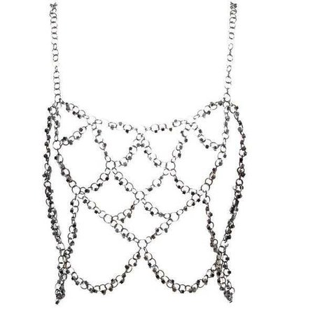 FANNIE SCHIAVONI Woven oxidised steel harness ($515)