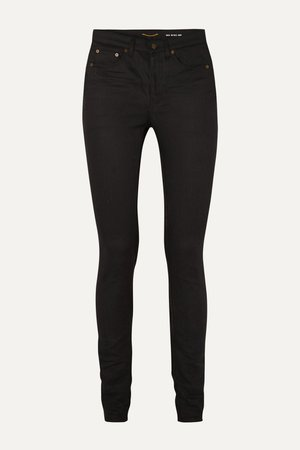 Black High-rise skinny jeans   SAINT LAURENT   NET-A-PORTER