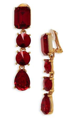 Women's Red Designer Earrings   Nordstrom