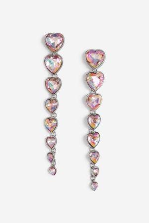 Heart Drop Earrings - Topshop USA