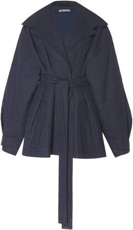 Claudia Belted Linen Coat