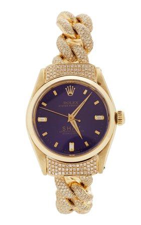 Shay 18K Yellow Gold Violet Custom Shay Vintage Rolex