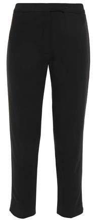 Cropped Twill Slim-leg Pants