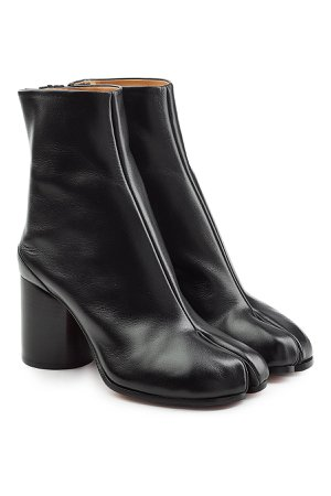 Leather Split Toe Ankle Boots Gr. IT 38