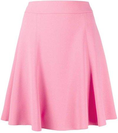 High-Waisted Pleated Mini Skirt