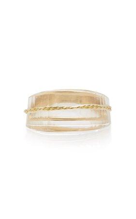 Facetas 18k Gold And Quartz Ring By Kika Alvarenga | Moda Operandi