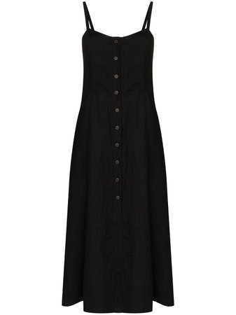 Three Graces Bonita button-up Midi Dress - Farfetch