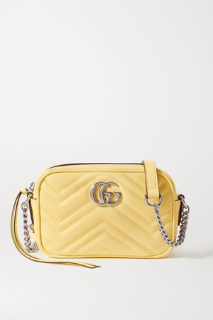 Yellow GG Marmont Camera mini quilted leather shoulder bag | Gucci | NET-A-PORTER