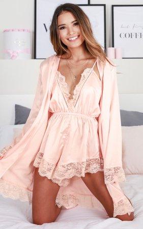 Bad Medicine Robe In Blush