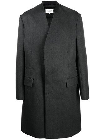 Maison Margiela, four-stitch single-breasted coat