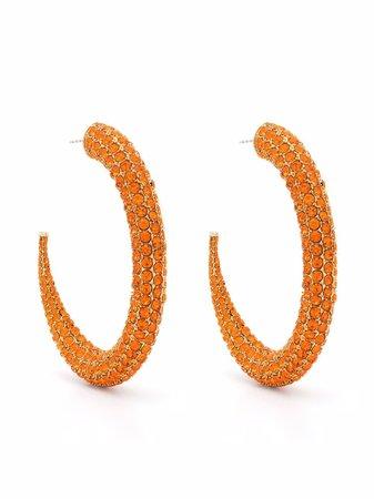 16Arlington Rhinestone Hoop Earrings - Farfetch