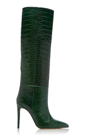 Croc-Embossed Leather Knee Boots By Paris Texas | Moda Operandi