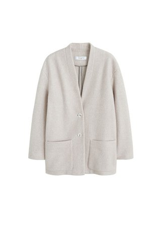 Violeta BY MANGO Unstructured cotton blazer
