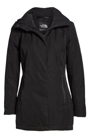 The North Face Ancha Hooded Waterproof Parka black