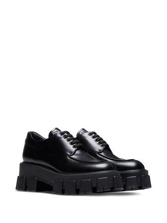 Black Prada patent tread sole creepers - Farfetch