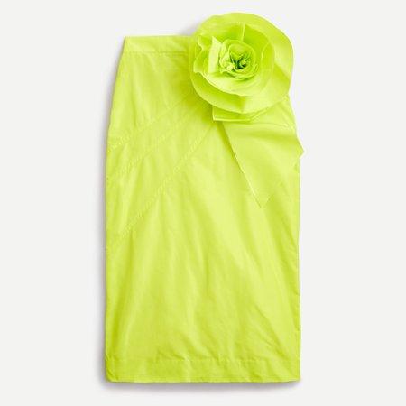 J.Crew: Taffeta Pencil Skirt With Rosette For Women