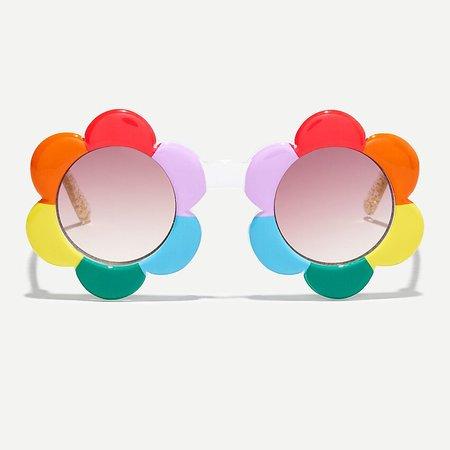J.Crew: Girls' Rainbow Flower Power Sunglasses